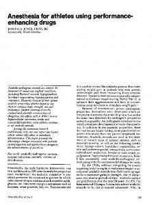 Anesthesia for athletes using performanceenhancing