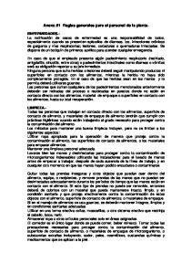 Anexo #1 Reglas generales para el personal de la planta