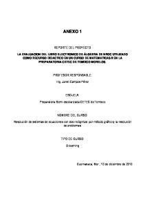 ANEXO 1 REPORTE DEL PROYECTO