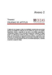 Anexo 2 TEMARIO PRUEBAS DE APTITUD