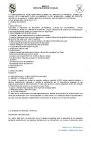 ANEXO 3 ESPECIFICACIONES TECNICAS