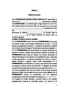 ANEXO 3. Modelo de Contrato