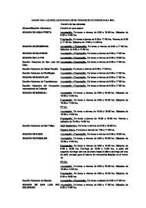 ANEXO 4 DE LAS REGLAS GENERALES DE COMERCIO EXTERIOR PARA Horario de las aduanas. Sábados de 9:00 a 12:00 hrs