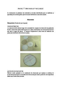 ANEXO 7. MATERIALES Y RECURSOS