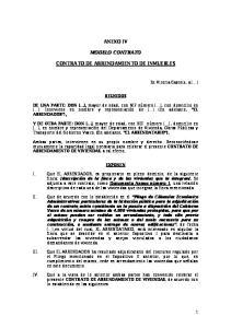 ANEXO IV MODELO CONTRATO CONTRATO DE ARRENDAMIENTO DE INMUEBLES
