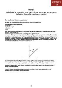 Anexo L Cálculo de la capacidad para lograr el cos = 0,95 en una empresa industrial (pequeña, mediana o grande)
