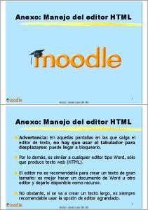 Anexo: Manejo del editor HTML