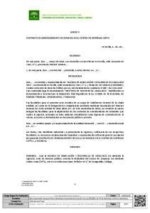 ANEXO V CONTRATO DE ARRENDAMIENTO DE ESPACIOS EN EL CENTRO DE EMPRESAS CEPTA REUNIDOS