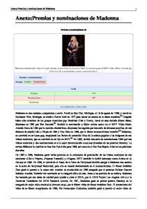 Anexo:Premios y nominaciones de Madonna