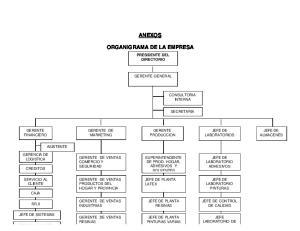 ANEXOS ORGANIGRAMA DE LA EMPRESA
