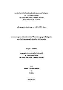 Anfertigung unter der Leitung von Prof. Dr. M. H. Erhard