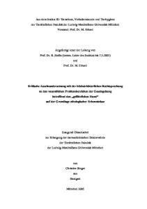 Angefertigt unter der Leitung von Prof. Dr. R. Stolla (komm. Leiter des Instituts bis ) und Prof. Dr. M. Erhard