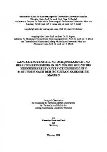 angefertigt unter der Leitung von Univ.-Prof. Dr. med. M. Blobner