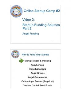 Angel Funding. How to Fund Your Startup