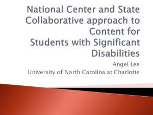 Angel Lee University of North Carolina at Charlotte
