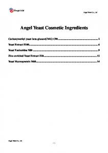 Angel Yeast Cosmetic Ingredients