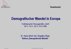 Angelika Stuke Referat Demografischer Wandel