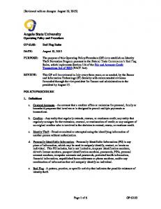 Angelo State University Operating Policy and Procedure