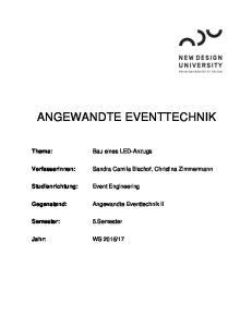 ANGEWANDTE EVENTTECHNIK