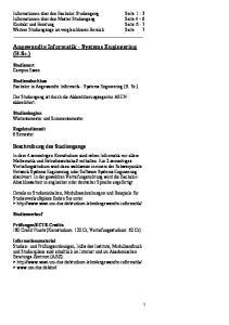 Angewandte Informatik - Systems Engineering (B.Sc.)