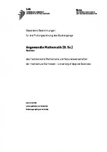 Angewandte Mathematik (B. Sc.) Bachelor