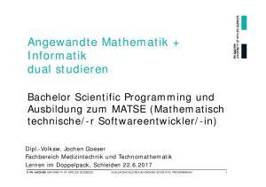 Angewandte Mathematik + Informatik dual studieren