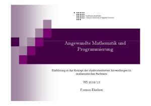 Angewandte Mathematik und Programmierung