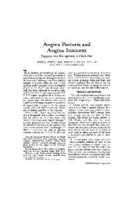Angina Pectoris and Angina Innocens