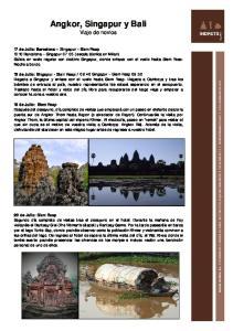 Angkor, Singapur y Bali Viaje de novios