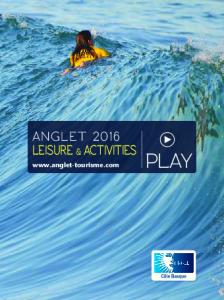 ANGLET 2016 LEISURE & ACTIVITIES PLAY