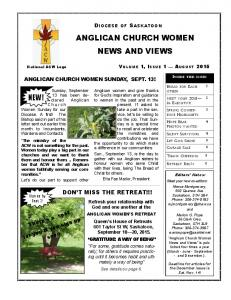 ANGLICAN CHURCH WOMEN NEWS AND VIEWS