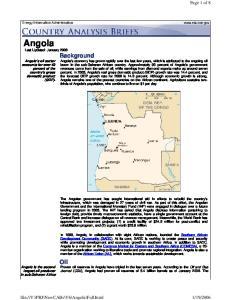 Angola Last Updated: January 2006