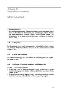 Anhang A: Empfohlene Attribute