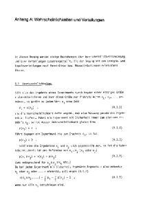 Anhang A: Wahrscheinlichkeiten und Verteilungen