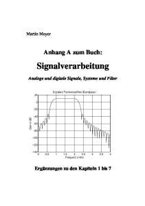 Anhang A zum Buch: Signalverarbeitung. Analoge und digitale Signale, Systeme und Filter. Digitales Transversalfilter (Bandpass)