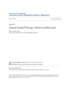 Animal-Assisted Therapy: Motives and Rewards