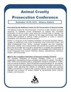 Animal Cruelty Prosecution Conference