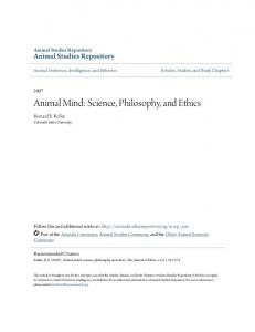 Animal Mind: Science, Philosophy, and Ethics