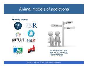 Animal models of addictions