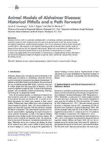 Animal Models of Alzheimer Disease: Historical Pitfalls and a Path Forward