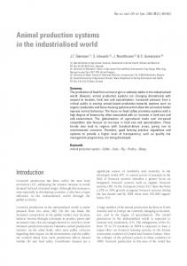 Animal production systems in the industrialised world