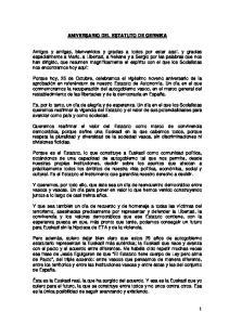 ANIVERSARIO DEL ESTATUTO DE GERNIKA