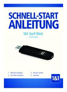ANLEITUNG 1&1 Surf-Stick