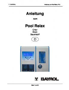 Anleitung. Pool Relax