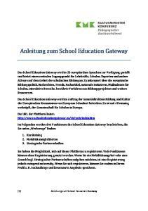 Anleitung zum School Education Gateway