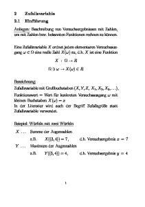 Anliegen: Beschreibung von Versuchsergebnissen mit Zahlen, um mit Zahlen bzw. bekannten Funktionen rechnen zu können