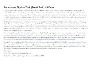 Annapurna Skyline Trek (Royal Trek) - 9 Days