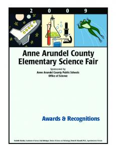Anne Arundel County Elementary Science Fair