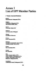Annex 1 List of EPP Member Parties