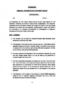 Annexure 2 HIMACHAL PRADESH STATE ELECTRICITY BOARD *NOTIFICATION * NO. DATED: -